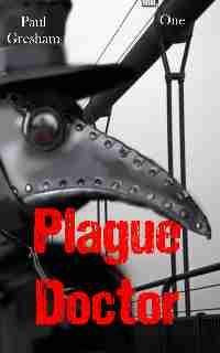 Plague doctor and San Francisco Golden Gate bridge