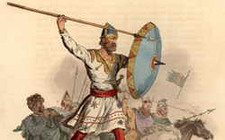Anglo Saxons in battle