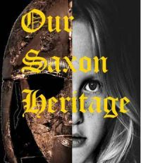 Saxon helmet with girl's face for book cover